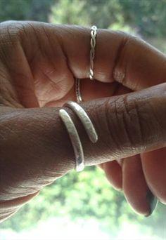 Sterling Silver Handmade Hammered Thumb Ring - Popfabrica at ASOS Marketplace £18.99