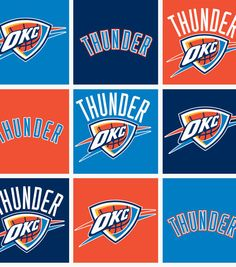 Oklahoma City Thunder NBA Fleece Fabric at Joann.com