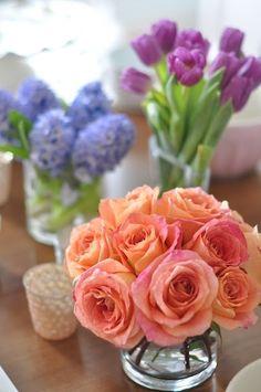 Roses, tulips & hyacinth
