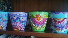 Painting Pots, Teacup Candles, Flower Pots, Zen, Tea Cups, Planter Pots, Arts And Crafts, Porcelain, Backyard