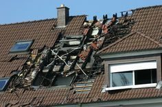 This roof was owned from storm damage.