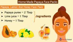 Experience a soothing papaya facial using the best papaya face packs for skin whitening, to get rid of pigmentation, pimples & lot more. Papaya Face Pack, Papaya For Skin, Papaya Facial, Natural Beauty Tips, Natural Skin Care, Papaya Benefits, Remedies For Glowing Skin, Honey Face Mask, Homemade Face Masks