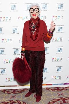 10+Holiday+Party+Accessory+Ideas+From+Iris+Apfel+via+@WhoWhatWearUK