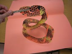 printed snake.