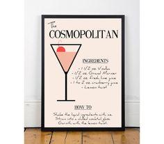 Cosmopolitan Print Printable wall art decor by ThePrintCooperative