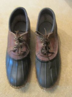 Vintage LL Bean Maine Hunting  Duck Shoes Men's Size  11  USA Freeport ME #LLBean #Outdoor