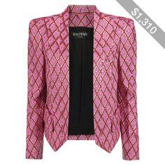 Balmain Metallic jacquard blazer