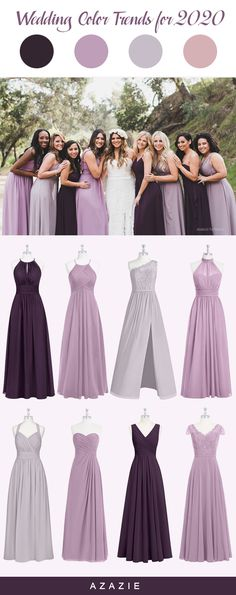 The multiple shades of purple bridesmaid dresses are perfect for every season wedding. Find your bridesmaid dress at Azazie now! bridesmaids purple Purple Mix and Match Bridesmaid Dresses Bridesmaid Dress Shades, Wisteria Bridesmaid Dresses, Azazie Bridesmaid Dresses, Purple Dresses For Weddings, Wedding Dresses For Maids, Bride Maid Dresses, Purple Beach Dresses, Bridesmaid Makeup, Prom Dresses