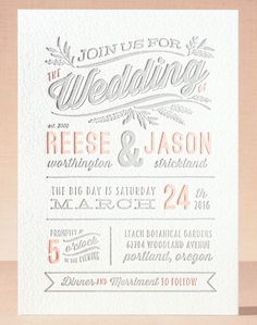 rustic charm letterpress wedding invitations by @kristykap for @minted