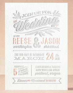 rustic charm letterpress wedding invitations by @kristykap for @minted