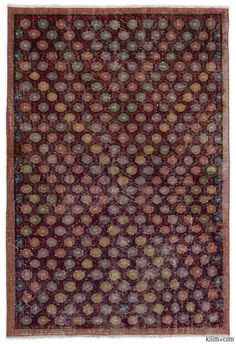 """For a contemporary look with a vintage appeal, we source rugs in excellent condition and carefully trim the piles to achieve an eye-catching """"distressed"""" look. Woven with wool on cotton, this fine rug measures 3'5'' x 5'2'' (105 cm x 157 cm). In addition to being unique and hand-made, these rugs make a very special statement about bridging generations of artisanal skill and knowledge over time with a charming look that complements any modern or bohemian décor. Check out our article Get The…"""