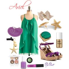 Ariel Inspired Summer, created by dancngbrett on Polyvore