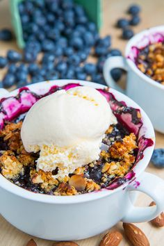 This Blueberry Almond and Amaretto Quinoa Crisp is beautiful!! from @Gerri Kling Kling Talevich cooking