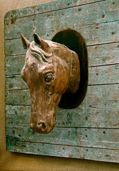 horse head: in the barn for bridles, in the house for odd bits