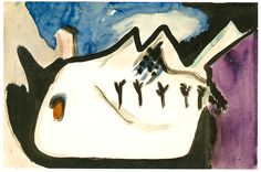 Snowy Landscape by @artistkirchner #expressionism