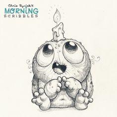Cute monsters art by Chris Ryniak Cute Monsters Drawings, Weird Drawings, Cartoon Monsters, Little Monsters, Cartoon Drawings, Animal Drawings, Drawing Sketches, Monster Sketch, Doodle Monster