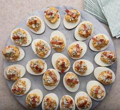 Cobb Salad Deviled Eggs Recipe by Tasty Cake Flan, Cake Mug, Egg Recipes, Low Carb Recipes, Cooking Recipes, Dessert Recipes, Omelettes, My Favorite Food, Favorite Recipes
