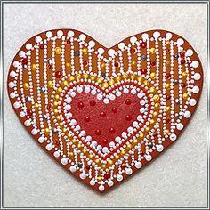 МАГНИТ, КЕРАМИКА :: СЕРДЕЧКО ПРЯНИК (арт. 000217) http://miukimikado.com/magnit-keramika-serdechko-pryanik-art-000217/