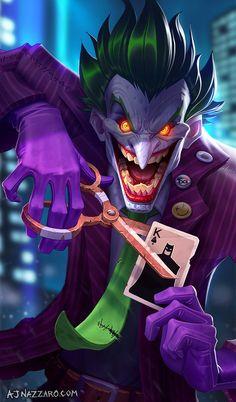 Joker by AJ Nazzaro : batman Joker Comic, Joker Batman, Joker Art, Batman Art, Comic Art, Comic Book, Joker Cartoon, Black Batman, Gotham Batman