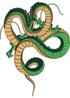 Shenron, the magic dragon of DBZ,  He and the Namekian dragon were actually the most powerful characters on the show.  If either of them had fought the others in the battle ring, they would've simply turned them into bugs and squashed them.  ٩(-̮̮̃•̃)۶