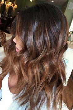 21 balayage dark brown hair color ideas for changing up your style - balayage brown hair, brown hair color with highlights #balayage #haircolor #hairstyles