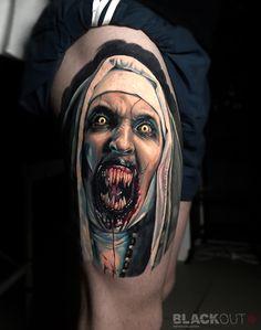 Tattoo Timur Rumit - tattoo's photo In the style Realistic, Male, Demons, Terrib Clown Tattoo, Creepy Tattoos, Demon Tattoo, Cool Tattoos, Full Arm Tattoos, Body Art Tattoos, Hand Tattoos, Sleeve Tattoos, True Tattoo