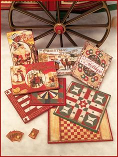 """1"""" Scale Christmas Games Kit – includes 8 different games and a deck of cards – coordinates with our Merry Peddler Wagon"""
