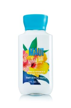 Maui Mango Surf - Travel Size Body Lotion - Bath & Body Works - America's #1 Body Lotion! Infused with Shea Butter and our exclusive Daily Moisture Complex, our enhanced lotion contains more of what skin loves, leaving it feeling incredibly soft, smooth and nourished. Fortified with nutrient-rich ingredients like protective Vitamin E and conditioning Vitamin B5, our fast-absorbing, non-greasy formula delivers 16 hours of continuous moisture.