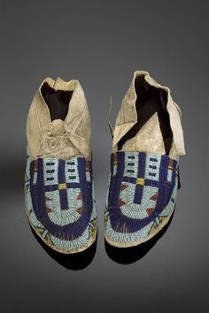 Arapaho Beaded Hide Moccasins, (2005, American Indian Arts / Sep 7 - 8)