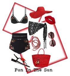 Fun In The Sun by lotus-lotusflower on Polyvore featuring polyvore, fashion, style, Zimmermann, Beauty & The Beach, Oscar de la Renta, Sensi Studio, Yves Saint Laurent, Lime Crime and clothing