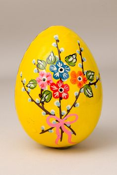 Painted easter eggs | Russian wooden painted Easter egg, Z457_P1