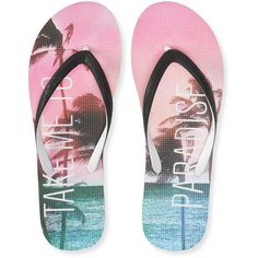 Aeropostale Paradise Flip-Flop (22 AUD) ❤ liked on Polyvore featuring shoes, sandals, flip flops, beach, black, aeropostale flip flops, aeropostale sandals, beach shoes, beach flip flops and black slip on sandals