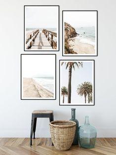 Coastal Wall Art, Coastal Decor, Beach Condo, Beach House, Hipster Living Rooms, Palm Tree Print, Apt Ideas, Bean Bags, Beach Print