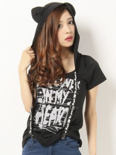 GHOST OF HARLEM (ghost of Harlem) Cat ear hood T