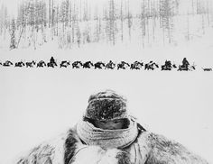 #A composite image of a baby and a funeral procession of a reindeer shepherd at fifty-five degrees below zero in the northern tundra of Evenkia by Gennady Koposov 1960s [2560X1979] #history #retro #vintage #dh #HistoryPorn http://ift.tt/2gxpVN2