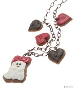 Q-Pot Ghost Cookie Necklace (Ribbon)