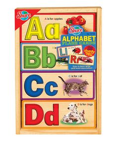 Take a look at this Alphabet Flash Card Set by Shure on #zulily today!
