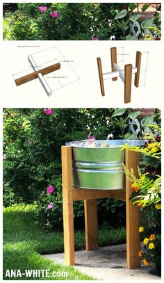 Ana White | Wood Party Bucket Stand - DIY Projects