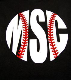 Monogram Baseball Tshirt by BurlapandLaceSC1 on Etsy, $20.00