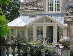 Conservatory on listed cottage