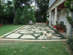 Stone Patio Design Ideas patio made with mixed stone materials stone patio ideas Patio Flagstone Designs Bing Images With Pavers In The Perimeter For A More Finished Look