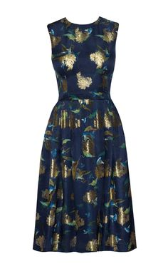 This **Lena Hoschek** Kensington dress features a high neckline and fitted bodice with a pleated knee length skirt. Ribbon Skirts, Evening Dresses, Summer Dresses, Vintage Bohemian, Dress To Impress, Catwalk, Fashion Dresses, Two Piece Skirt Set, Spring Summer