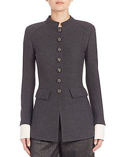 St. John Boucle Stand Collar Jacket