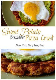 Sweet Potato Breakfast Pizza Crust - Gluten Free, Vegan, Paleo