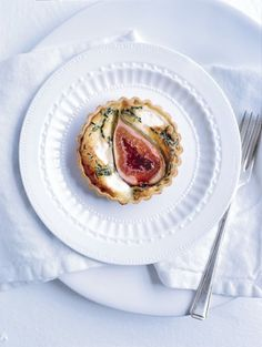 fig quiche; Chris Court Photography