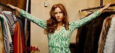 Amy Adams wearing a vintage DVF dress in 'American Hustle'