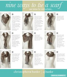 Have some great scarves and need some tying inspiration?
