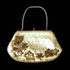 Silk Beaded Purse Signed Lightstone Hubbard London