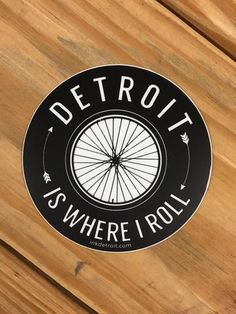 Ink Detroit Detroit Is Where I Roll Vinyl Die Cut Bumper Sticker Detroit Vs Everybody, Die Cutting, Bumper Stickers, Rolls, Ink, Tees, Products, Bumper Stickers For Cars, T Shirts