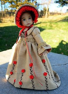 A-Regency-Christmas-Dress-Coat-Clothes-Outfit-for-13-Effner-Little-Darling-Lumi. SOLD BIN for $199.00 on 11/8/4.